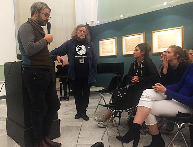Talk and Workshop at Accademia Genova / SculturaCeramica Genova (April 2019)